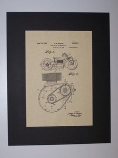 Weaver Shaft Drive for Motorcycles 1943 Patent Drawing