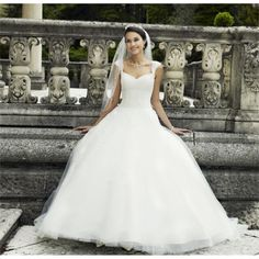 Ball Gown V Neck Court Train Tulle Ivory Wedding Dress Best Wedding Dresses, Wedding Events, Weddings, One Shoulder Wedding Dress, Dream Wedding, Wedding Things, Ball Gowns, Dress Shoes, Wedding Inspiration