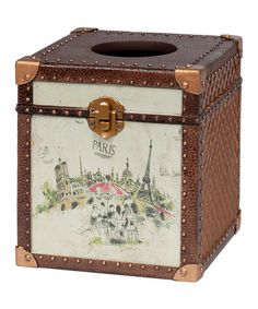 Take a look at this Paris Tissue Box by Creative Ware Home on #zulily today!