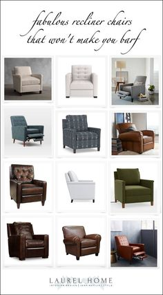 recliner chairs that won't make you barf. Plus, more on the blog!