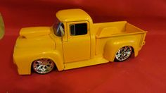 Vintage Yellow 1956 Ford F100 1 24 Scale Die by tennesseehills, $10.00