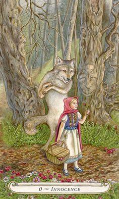 0 - Innocence (Le fou) - Le conte de fées de Tarot par Lisa Hunt
