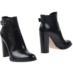 Gianvito Rossi Ankle Boots ($374) ❤ liked on Polyvore featuring shoes, boots, ankle booties, black, short black boots, leather sole boots, black bootie, leather booties and black ankle booties