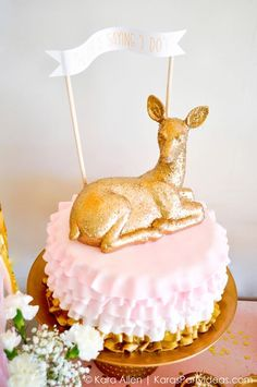 "The Doe is saying ""I Do"" deer themed Bridal Shower by Kara Allen KarasPartyIdeas.com"