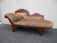 Victorian Eastlake Fainting Sofa / Chaise Lounge #3734