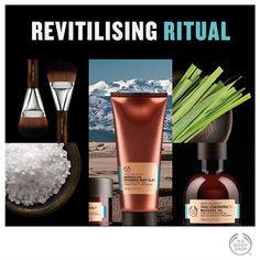 When you're feeling tired, run down or sluggish, invigorate mind and body with this energising spa ritual. Body Shop At Home, The Body Shop, Beauty Haven, Home Spa, Feel Tired, Massage Oil, Cruelty Free, Body Care, Bath And Body