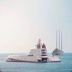Motor Yacht A and Sail Yacht A looking amazing off the shores of Monaco ��: @yachtpictures ----------------------------------------------------------------------------------------------------------------------------------------------------------------#billionaire #ferrari #lamborghini #porsche #mclaren #rich #luxury #supercar #millionaire #car #beutiful #art #hublot #rolex #pagani #monaco #yacht #megayacht #celebrity #astonmartin #bugatti #bombardier #gulfstream #pagani #privatejet #plane…