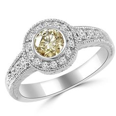 Jewelry Point - 0.78ct Vintage Style Champagne Brown Diamond Engagement Ring, $1,270.00 (http://www.jewelrypoint.com/0-78ct-vintage-style-champagne-brown-diamond-engagement-ring/)