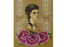 """""""Victorian vintage - a Collage style"""" Hand painted Available at www.romanticdecorativeart.co.uk"""