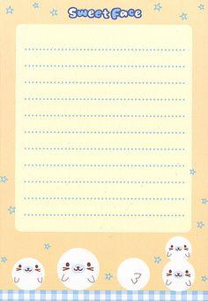San-X Sweet Face Memo (Seal) (Sheet) (4) | by Crazy Sugarbunny