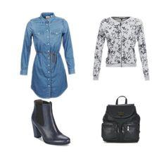 Wishlist de rentrée : - Robe en denim Levis ✔ - Sweat zippé Pepe Jeans ✔ - Bottines à talon BT London ✔ - Sac à dos Nanucci ✔ Parée à affronter une nouvelle année :) #Fashion #Outfit