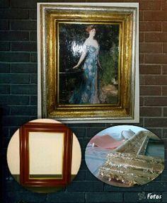 Restaurando un marco con pan de oro. Renovated a frame with gold and sylver leaf.