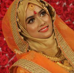 Bridal Makeup Looks, Bridal Looks, Bridal Hijab Styles, Bridal Makeover, Hijab Bride, Muslim Brides, Asian Bride, Hijab Dress, Beautiful Hijab