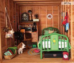American girl Kit's attic Kit's Bed Kit's Desk Kit's Typewriter Kit's Phone Kit's Lamp Kit's Hobo Kit's Camp Kit's Dog Grace Kit's Lantern Kit's Binoculars