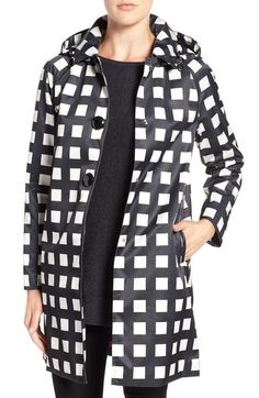kate spade new york removable hood macintosh coat available at #Nordstrom