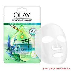 Olay Skinfusion Deep Sea Algae Healthy Aura Face Sheet Mask 25g Stress Causes, Dull Skin, Sheet Mask, Radiant Skin, Face Serum, Combination Skin, Olay, Skin Care Regimen, Beauty