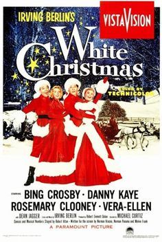 "White Christmas is a 1954 Technicolor musical film starring Bing Crosby and Danny Kaye that features the songs of Irving Berlin, including the titular ""White Christmas"". The film was directed by Michael Curtiz and co-stars Rosemary Clooney and Vera-Ellen. Christmas Movie Trivia, White Christmas Movie, Best Christmas Movies, Holiday Movies, Christmas Eve, Holiday Song, Xmas Movies, Christmas Classics, Vintage Christmas"