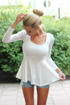 Gorgeous #white #peplum