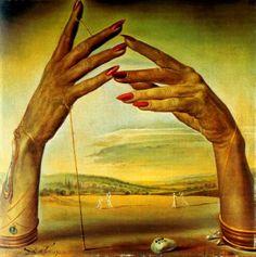 Salvador Dali / Portrait of a passionate woman's hands