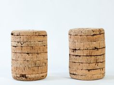 Cork stool, made of cork as the main material, asembled with has wood nail. Beautiful, light and robust.