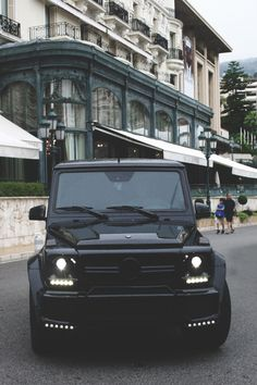 Mercedes, bling car, black on black vehicle, Brabus G Class