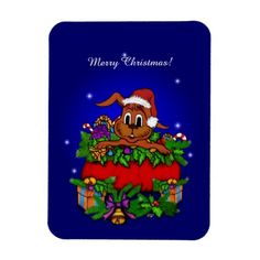 #Christmas #Rabbit #Magnet for #Kids #NEW by Krisi ArtKSZP on Zazzle - Today 20% OFF All Orders