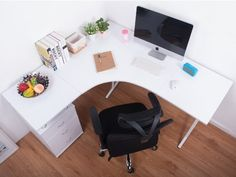 BTM L-Shape Large Corner Computer Desk PC Table Corner Home Office Desk: Amazon.co.uk: Kitchen & Home