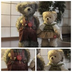 Flori (male) and Lieselotte (female) teddy bears from Hermann helping me out in the kitchen during Christmas time!