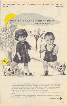 PAR AMOUR DES POUPEES :: M&T 1962-03 Pour fêter les premiers jours du printemps (couture)