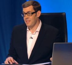 Richard Osman! He's not particularly good looking but his intelligence and wit make him VERY attractive!