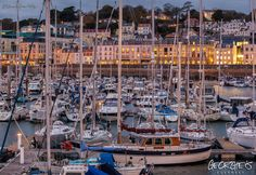 Looking across the QEII Marina from the east arm Guernsey Harbours towards Glategny Esplanade #Guernsey #GreatThings  Link to the whole collection of 'Georgie's Guernsey' :-http://chrisgeorge.dphoto.com/#/album/4daaes  Picture Ref: 26_03_16 — in St. Peter Port, Guernsey, Channel Islands.