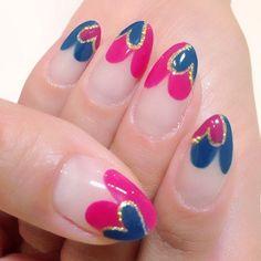 Valentine Hear Nail Art by ayaruco #nail #nails #nailart