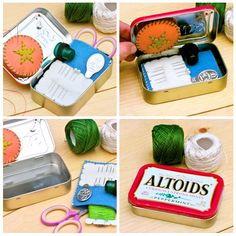 Adorable Altoids tin embroidery/sewing kit (I need one of these for my knitting supplies!)