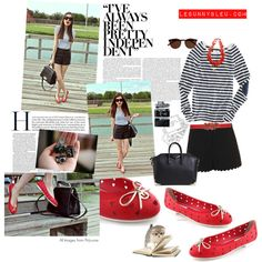 """LeBunny Bleu - Red Snow Whites Ballet Flats"" by lebunnybleu on Polyvore"