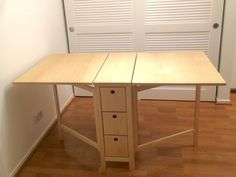 Post with 11547 votes and 591608 views. Wife saw an Ikea table liked, but there's no Ikea here. It turns out I wasn't lying. Diy Dining Table, Foldable Dining Table, Diy Table, Craft Table, Home, Murphy Table, Dining Room Console Table, Dining Room Console, Ikea Table