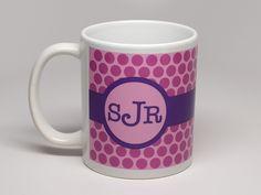 Designer Series Mugs - Dots Design - Personalized Coffee Mugs $13.99
