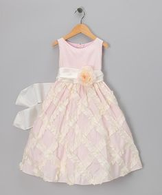 Take a look at this Light Pink Lattice Taffeta Dress - Toddler & Girls by Sweet Kids on #zulily today!