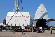 Spaceflight Now   Falcon Launch Report   AsiaSat 6 prepared for launch