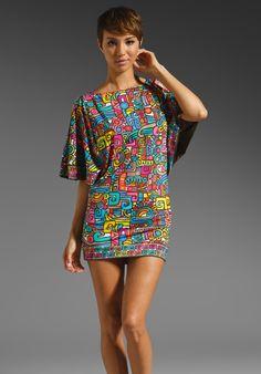 TRINA TURK Maya Cold-Shoulder Tunic