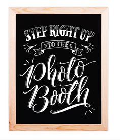 Hand-lettered photo booth sign perfect for your reception or soiree. Hand-lettered photo booth sign perfect for your reception or soiree. Chalkboard Wedding, Wedding Signage, Chalkboard Signs, Chalkboards, Carnival Signs, Diy Carnival, Carnival Dress, Carnival Makeup, Carnival Games