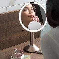 sensor mirror trio features 3 different magnification settings 🔎 ideal for checking your look at true size view your entire face with enhanced clarity + detail extremely close-up view for detail work . Makeup Essentials, Insta Pic, Close Up, Life Is Good, Usb, Mirror, Beauty Women, Life Is Beautiful, Mirrors