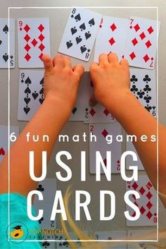 Are you after some more fun math games that you can use with your students? Maybe youre teaching your kids about problem solving or you would like to develop their number work. I find math card games are a fantastic way for kids to practice and consolida Math Card Games, Card Games For Kids, Fun Math Games, Math For Kids, Math Activities, Dice Games, Home Games For Kids, Algebra Games, Logic Games For Kids