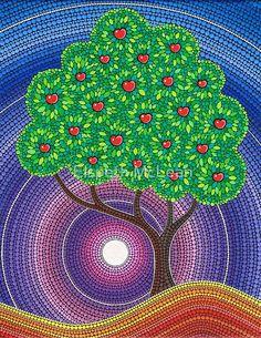 Esta pintura fue inspirada por mi primer verano / otoño pasó viviendo en una propiedad de manzanos. Quería expresar la belleza jugosa y abundante de este delicioso regalo de la naturaleza. acrílico sobre lienzo original de 2014 • Buy this artwork on apparel, kids clothes, stickers y more.