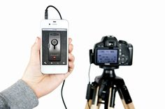 The ioShutter Camera Remote     Turn your iPhone, iPad, or iPod Touch into a 6-in-1 intelligent remote trigger for your camera.