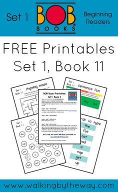 FREE BOB Book Printables for Set 1 Book 11 from Walking by the Way