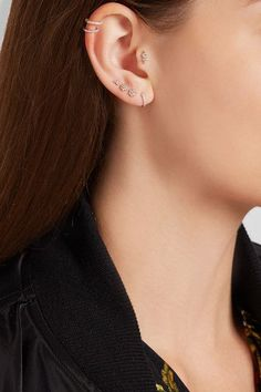 Post fastening for pierced ears NET-A-PORTER.COM is a certified member of the Responsible Jewellery Council