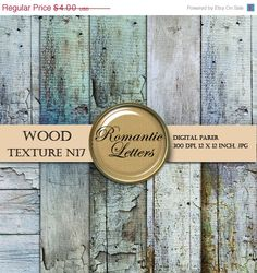 Sale 30 Wood Texture digital paper pack  por RomanticLetters