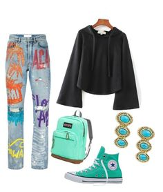 """Untitled #57"" by loril4 on Polyvore featuring Faith Connexion, Converse, JanSport and House of Harlow 1960"