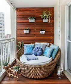 Wood slats inside to hang planters?