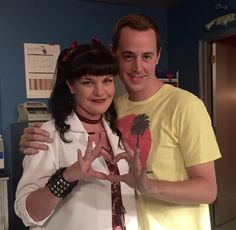 """""""And I love this pic me and Sean H. Murray took for y'all sending you a little NCIS heart love."""""""